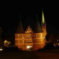 Holstentor Lübeck by Night,